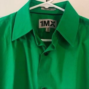 Express Kelly Green Button Down